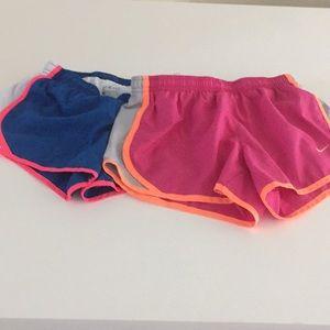Set of Nike dri fit shorts